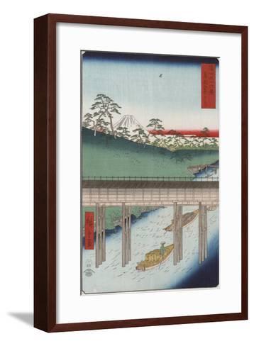 Ochanomizu in the Eastern Capital-Ando Hiroshige-Framed Art Print