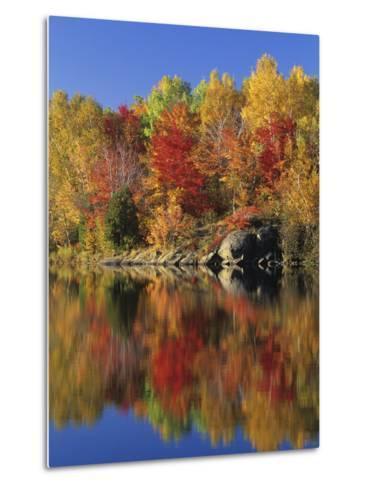 Simon Lake Reflection, Naughton, Ontario, Canada-Mike Grandmaison-Metal Print