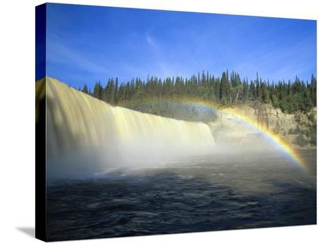 Lady Evelyn Falls on Kakisa River Near Kakisa, Northwest Territories, Canada-Mike Grandmaison-Stretched Canvas Print