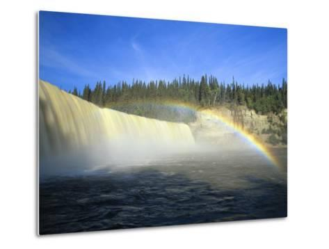 Lady Evelyn Falls on Kakisa River Near Kakisa, Northwest Territories, Canada-Mike Grandmaison-Metal Print