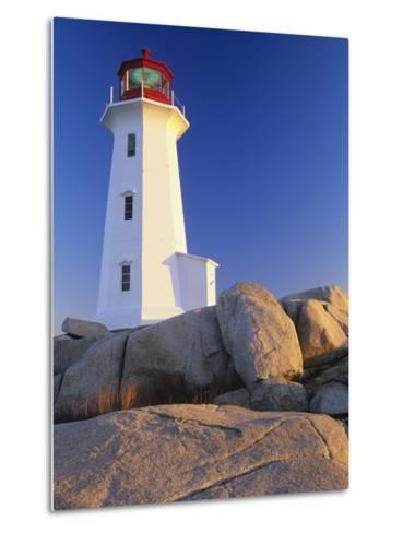 Peggy's Cove Lighthouse, Peggy's Cove, Nova Scotia, Canada-Miles Ertman-Metal Print