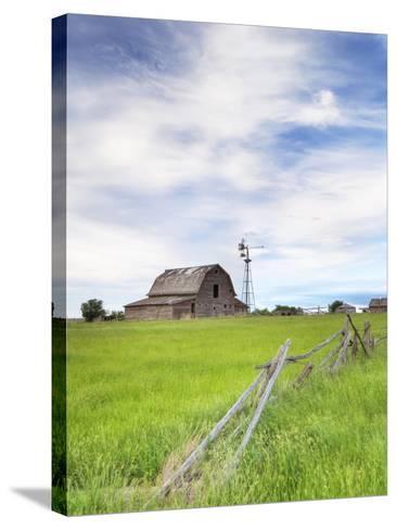 Abandoned Barn, Near Leader, Saskatchewan, Canada-Sam Chrysanthou-Stretched Canvas Print