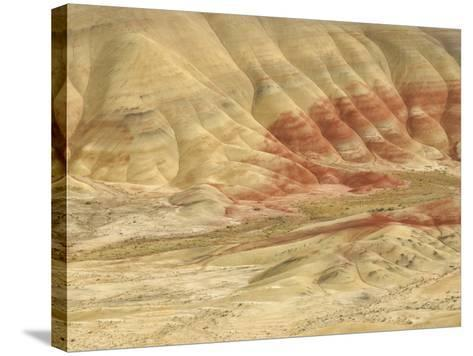 The Painted Hills at the John Day Fossil Beds National Monument, Oregon, USA-Peter Carroll-Stretched Canvas Print