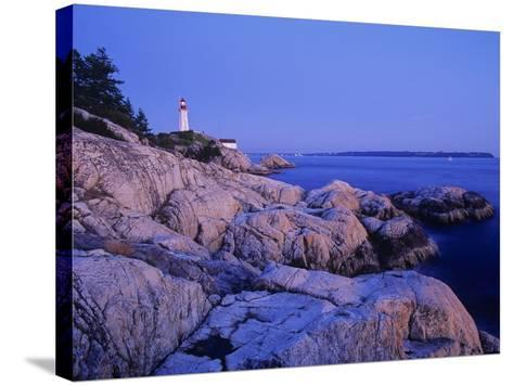 Point Atkinson Lighthouse Guides Mariners into Vancouver Harbour, Lighthouse Park, West Vancouver, -Chris Jaksa-Stretched Canvas Print