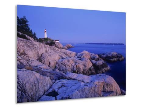 Point Atkinson Lighthouse Guides Mariners into Vancouver Harbour, Lighthouse Park, West Vancouver, -Chris Jaksa-Metal Print