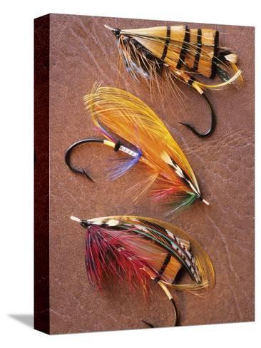 Flyfishing: Full Dressed Atlantic Salmon Flies, Canada.-Keith Douglas-Stretched Canvas Print