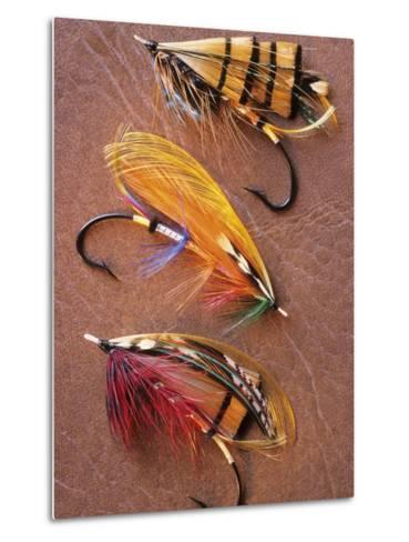 Flyfishing: Full Dressed Atlantic Salmon Flies, Canada.-Keith Douglas-Metal Print
