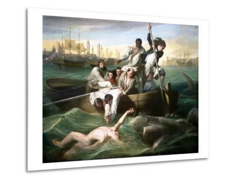 Watson and the Shark-John Singleton Copley-Metal Print