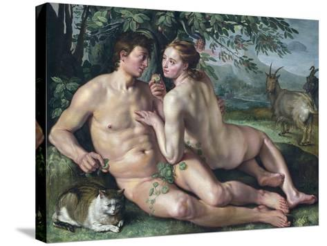 The Fall of Man-Hendrik Goltzius-Stretched Canvas Print
