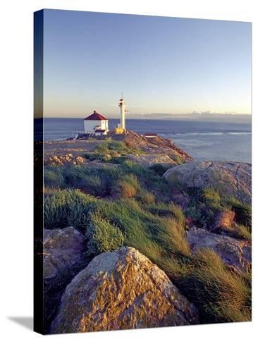 Trial Island Lighthouse with the Strait of Juan De Fuca in Background, Victoria, British Columbia, -Chris Jaksa-Stretched Canvas Print