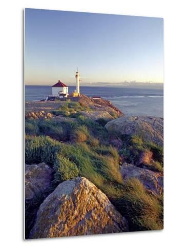 Trial Island Lighthouse with the Strait of Juan De Fuca in Background, Victoria, British Columbia, -Chris Jaksa-Metal Print