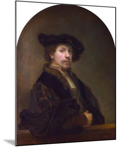Self Portrait at the Age of 34-Rembrandt van Rijn-Mounted Giclee Print