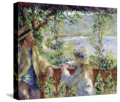 By the Water-Pierre-Auguste Renoir-Stretched Canvas Print
