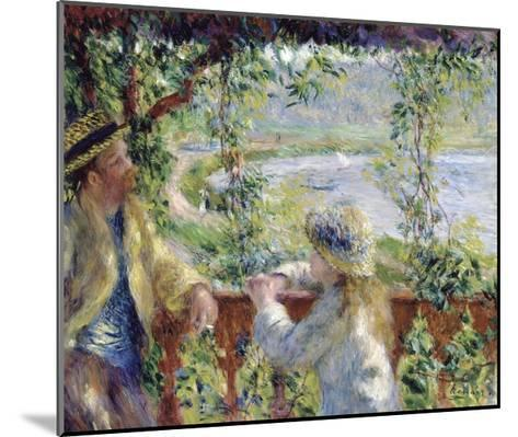By the Water-Pierre-Auguste Renoir-Mounted Giclee Print