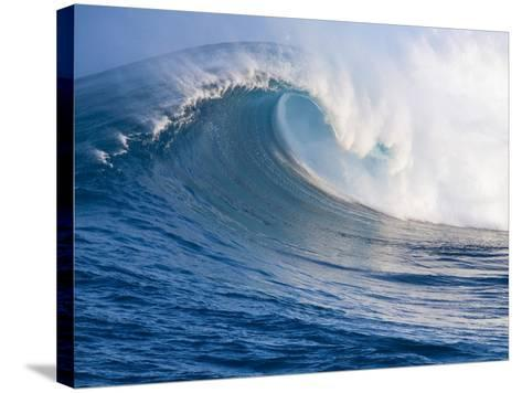 Breaking Waves at a Surfing Area called Peahi, North Shore of Maui, Hawaii-Ron Dahlquist-Stretched Canvas Print
