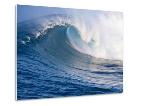 Breaking Waves at a Surfing Area called Peahi, North Shore of Maui, Hawaii-Ron Dahlquist-Metal Print