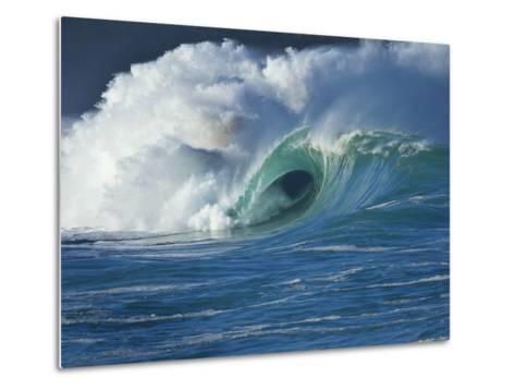 Wave, Waimea, North Shore, Hawaii-Douglas Peebles-Metal Print