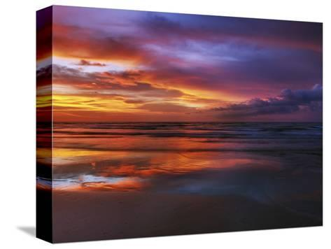Magnificent sunset with monsoon clouds-Frank Krahmer-Stretched Canvas Print