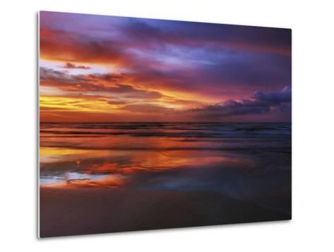 Magnificent sunset with monsoon clouds-Frank Krahmer-Metal Print