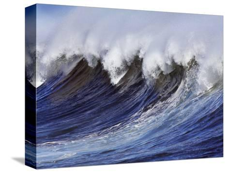 Breaking wave on the North Shore of Oahu-Frank Krahmer-Stretched Canvas Print