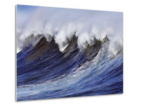 Breaking wave on the North Shore of Oahu-Frank Krahmer-Metal Print