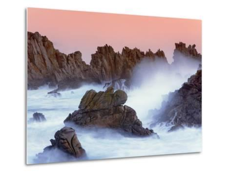 Sea stacks and spume at the Pointe de Creac'h-Frank Krahmer-Metal Print