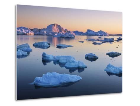 Icebergs in Disko Bay-Frank Krahmer-Metal Print
