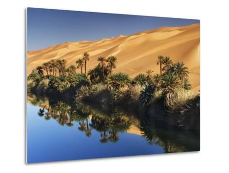 Dune rising from Um el Ma Lake-Frank Krahmer-Metal Print