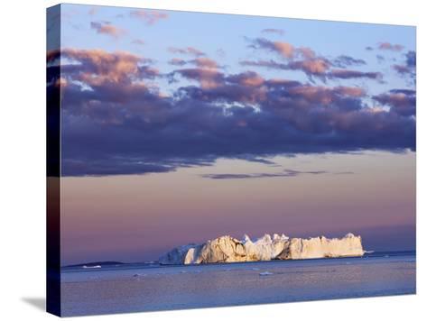 Iceberg on Disko Bay-Frank Krahmer-Stretched Canvas Print