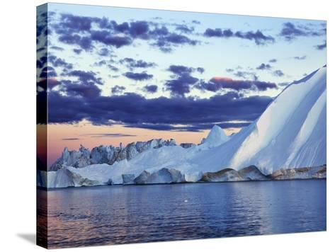 Iceberg in Disko Bay-Frank Krahmer-Stretched Canvas Print