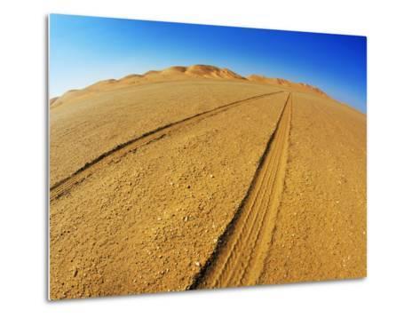 Tire tracks in the sand-Frank Krahmer-Metal Print