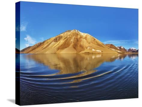 Mountains along Kong Oscar Fjord in Greenland-Frank Krahmer-Stretched Canvas Print