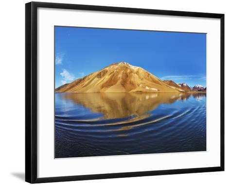 Mountains along Kong Oscar Fjord in Greenland-Frank Krahmer-Framed Art Print
