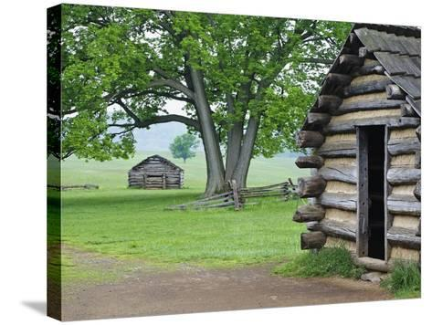 Cabin in Valley Forge National Historic Park-William Manning-Stretched Canvas Print