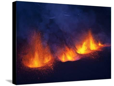 Lava erupting from Eyjafjallajokull--Stretched Canvas Print