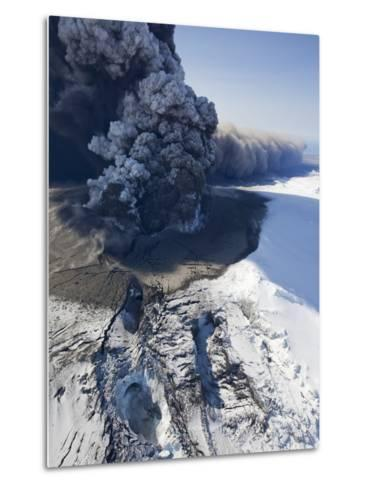Eyjafjallajokull volcano erupting in Iceland-Paul Souders-Metal Print