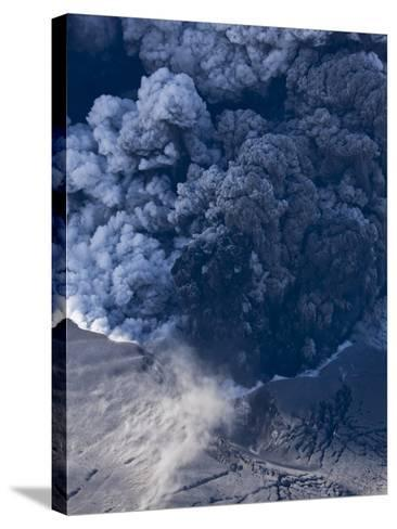 Eyjafjallajokull volcano erupting in Iceland-Paul Souders-Stretched Canvas Print