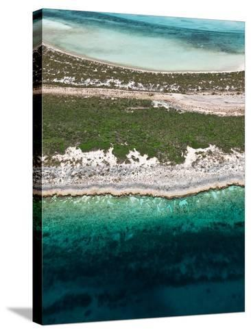 Aerial View of Exuma Cays, Bahamas-Onne van der Wal-Stretched Canvas Print
