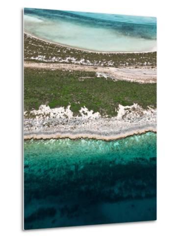 Aerial View of Exuma Cays, Bahamas-Onne van der Wal-Metal Print