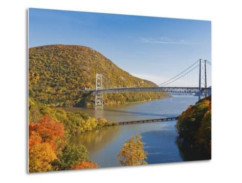 Bear Mountain Bridge spanning the Hudson River-Rudy Sulgan-Metal Print