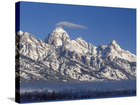 Banner Cloud on Summit of Grand Teton-Scott T^ Smith-Stretched Canvas Print