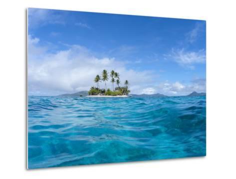 Tropical island, Micronesia--Metal Print