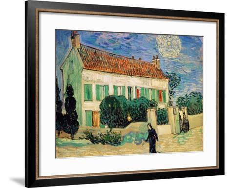 White House at Night-Vincent van Gogh-Framed Art Print