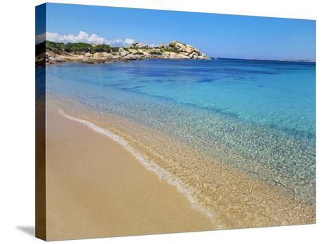 Beach at Spagia la Licciola-Frank Krahmer-Stretched Canvas Print