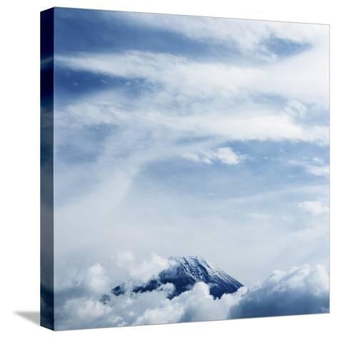Mount Fuji with Clouds-Micha Pawlitzki-Stretched Canvas Print