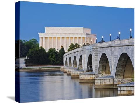 Arlington Memorial Bridge and Lincoln Memorial in Washington, DC-Rudy Sulgan-Stretched Canvas Print