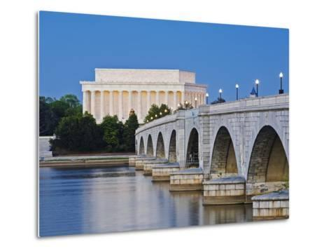 Arlington Memorial Bridge and Lincoln Memorial in Washington, DC-Rudy Sulgan-Metal Print