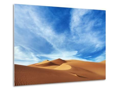 Sand dunes in Erg Admer in Algeria-Frank Krahmer-Metal Print
