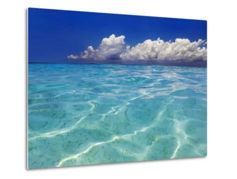 Tropical lagoon, Kunfunadhoo, Baa Atoll, Maldives-Frank Krahmer-Metal Print