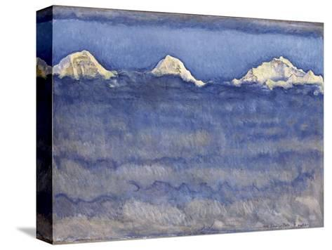 The Eiger, Monch and Jungfrau Peaks Above the Foggy Sea-Ferdinand Hodler-Stretched Canvas Print